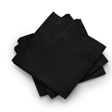 Cocktail Napkin Black Pack of 200