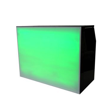 Green Perspex and Steel Bar Lit