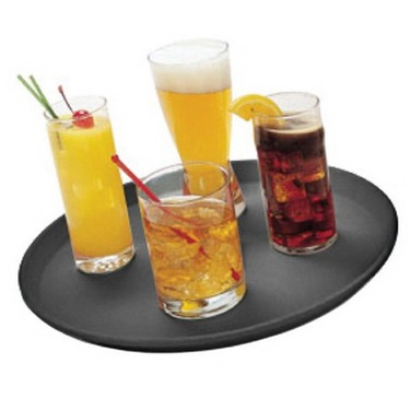 non-slip bar tray large