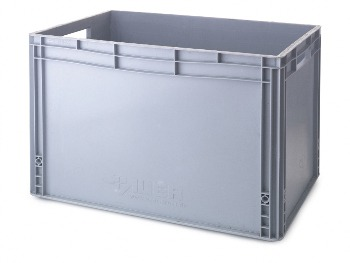 Ice Bin Grey Oblong (Internal 35.5 x 55.5 x 40)