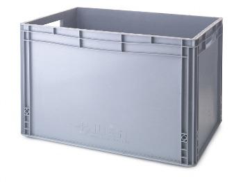 Ice Bin Grey Oblong (Internal 35.5 x 55.5 x 40)
