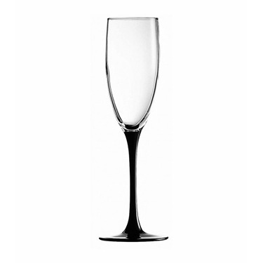 Champagne Glass Black Stem – Domino