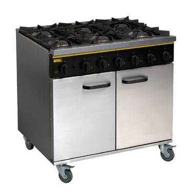 six burner range gas cooker with oven