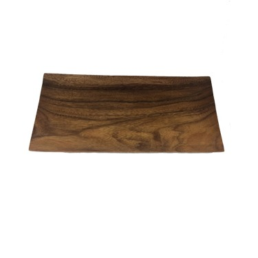 canape tray rectangle wood