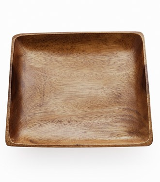 Canapé Tray Wood Square 25 cms