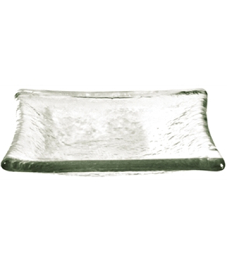 Canape Amuse Glass Plate Clear
