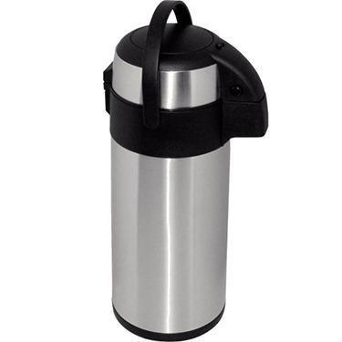thermos silver pump