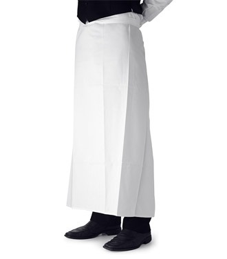 bar apron long white