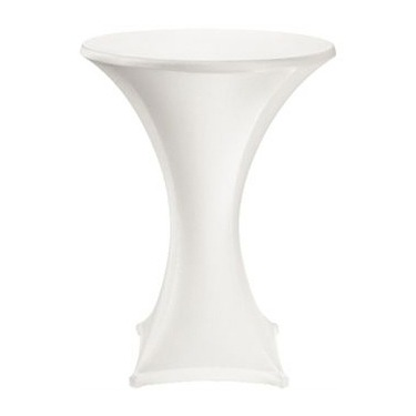 Poseur Table Covers White Lycra Stretch