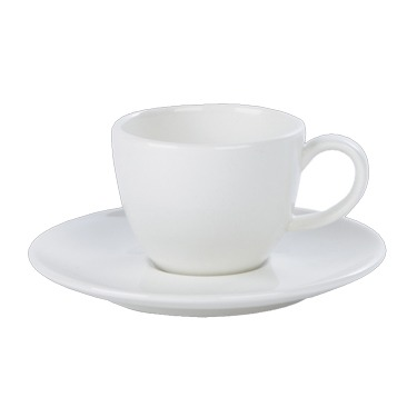 Espresso Cup and Saucer – Classic White