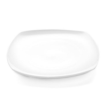 Coupe Plate Square White 25cm x 25cm